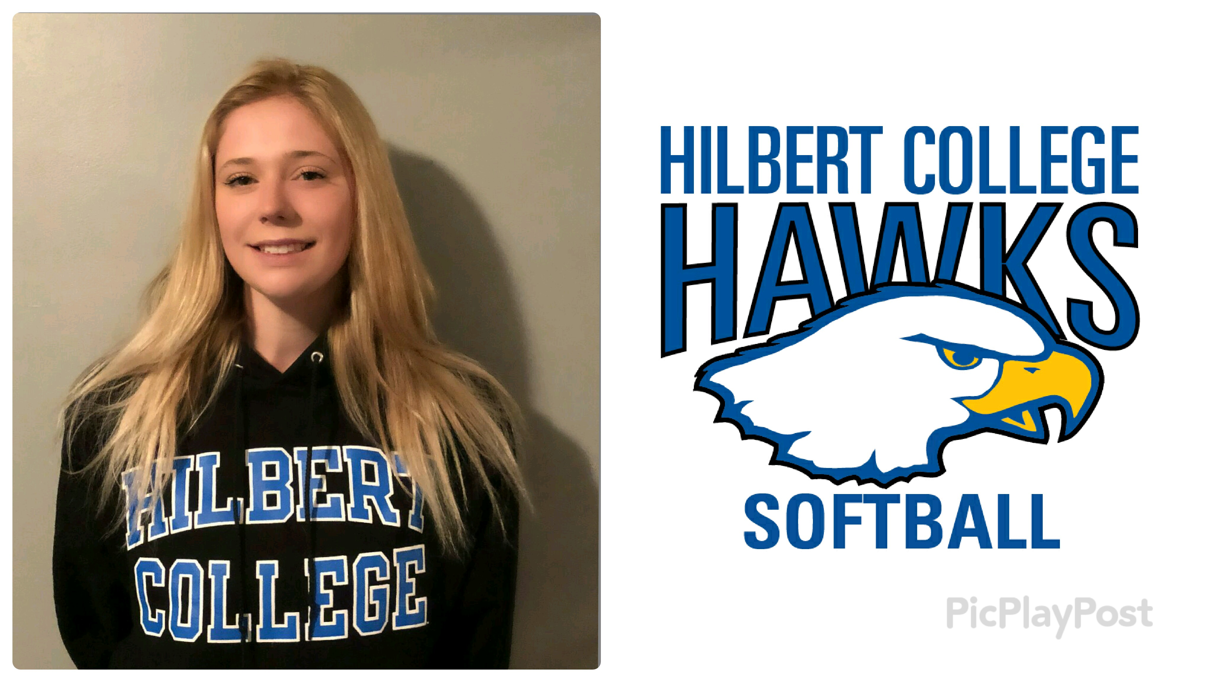 Congratulations to Bailey Budziszewski on her commitment to Hilbert College (Class of 2018)